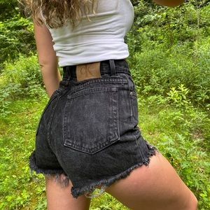 Calvin Klein Black Denim High Waisted Shorts